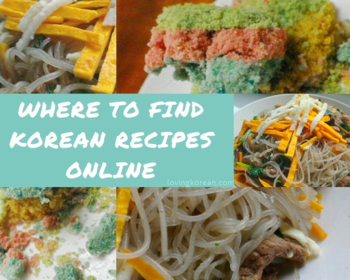 Where to find Korean recipes online cooking instructions