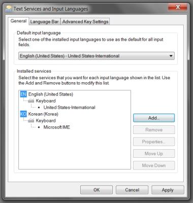 change Korean keyboard step 4