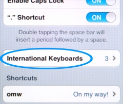 iPhone Korean keyboard step 3