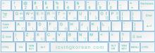 Korean keyboard layout typing Hangul on computer