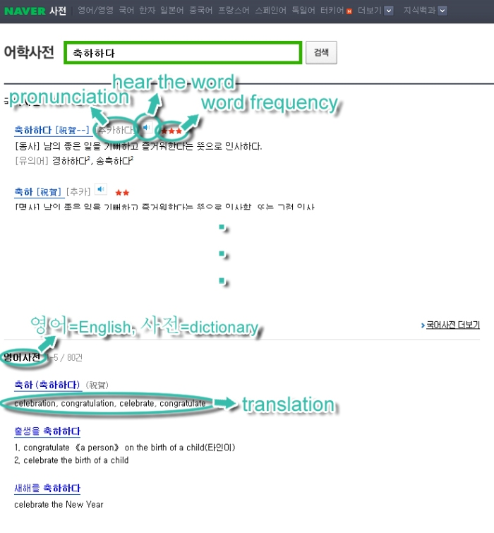 Naver dictionary explained