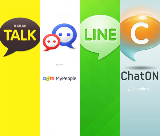 Best Korean apps are KakaoTalk, MyPeople, Naver LINE, ChatON