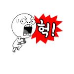 Korean emoticon 헉 OMG