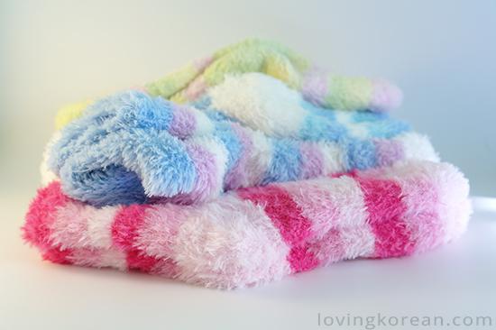 Cute romantic Korean fluffy socks