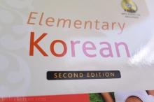 Elementary Korean language title book