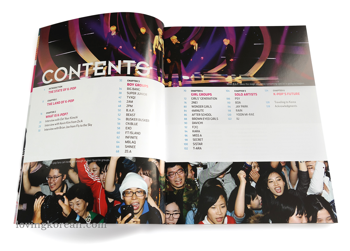 Kpop now book contents state of K-pop land of what is K-pop boy groups girl groups solo artist future